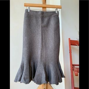 Grey Ruffle Hem Skirt- NEW!